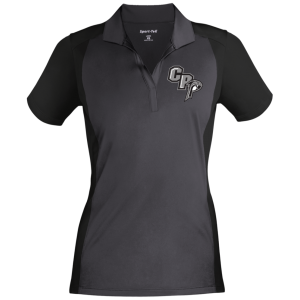LST652 Sport-Tek Ladies' Colorblock Sport-Wick Polo